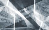 Błękitny stonowany cyfrowy tła 3d beton - 242323641