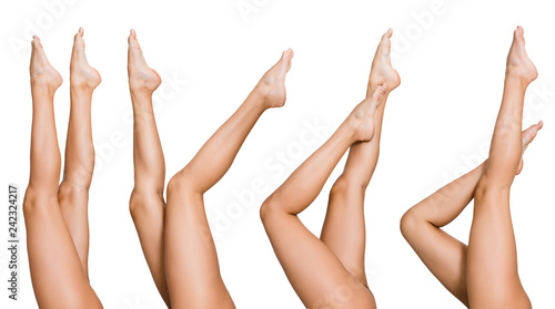 Fototapety, obrazy: Naked woman posing with her beautiful legs