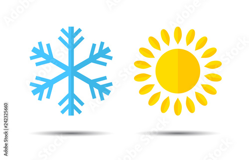 Hot and Cold Temperature Icon Wallpaper Mural
