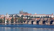 Prague Hradcany And Charles Bridge