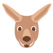 Vector Illustration ,  Kangaroo , Flat Style , Front Side