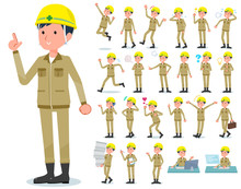 Flat Type Helmet Worker Men_em...