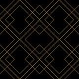 Dachówka wektor wzór z złotym ornamentem na czarnym tle - 242332247