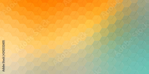 Abstract hexagonal background. Vector geometric background with hexagons and gradient effect. Bright color vector background illustration.