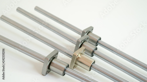 Fotografia, Obraz  Metal linear bearings