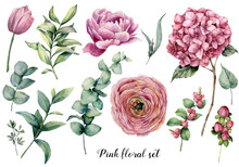 Hand Painted Floral Elements. ...
