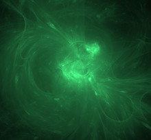 Abstract Ufo Green Fractal Background. Fantasy Fractal Texture. Digital Art. 3D Rendering. Computer Generated Image.