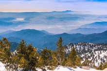View Towards Hemet And Diamond Valley Lake From The Trail To Mount San Jacinto, California