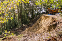 Collapsed Paved Road Due To A ...