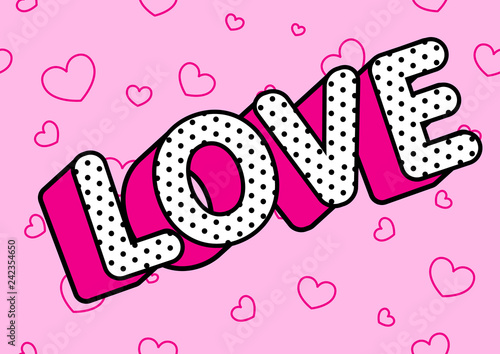 Love Word On Light Pink Seamless Background Cute Rose