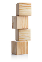 Tower Of Four Wooden Cubes, Is...