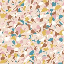 Random Spots. Abstract Art Seamless Pattern, Paint Spots.