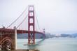 Golden gate bridge on a foggy day, San Francisco, California
