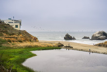 Ruins Of The Sutro Baths On A ...