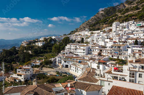 Canvas Print Panoramic view of Mijas village in Malaga province, Spain