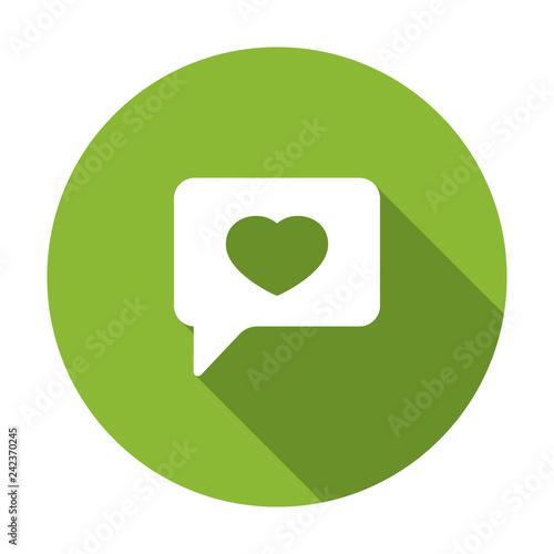 Fotografie, Obraz  Bubble chat favorite heart like icon. Vector illustration