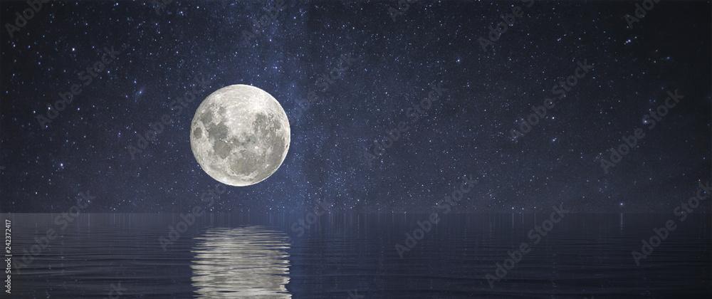 Fototapety, obrazy: Full Moon at Sea