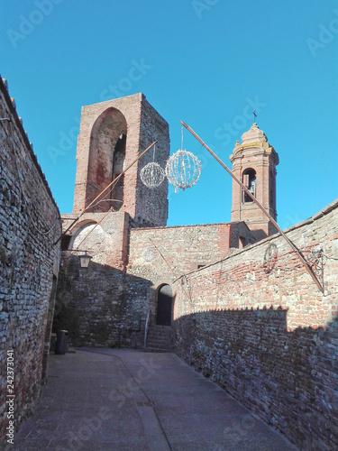 Fotografie, Obraz  Alley of Città della Pieve in Umbria, Italy.