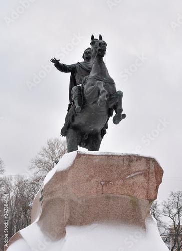 Fotografie, Obraz  Bronze Horseman in St. Petersburg.