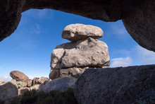 Massive Stack Of Rocks At Teutonia Peak In Mojave