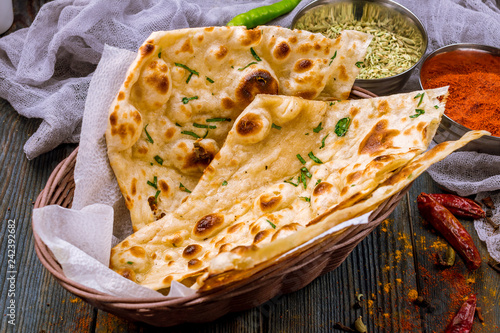 Tuinposter Brood bread tandoori indian cuisine