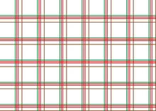National Scottish Kilt Pattern, Tartan On A Transparent Background