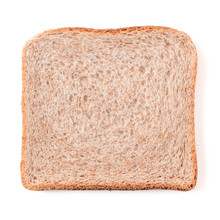Bread Slice Isolated On White,...