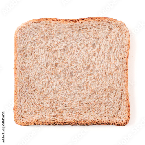Bread slice isolated on white, clipping path Fotobehang