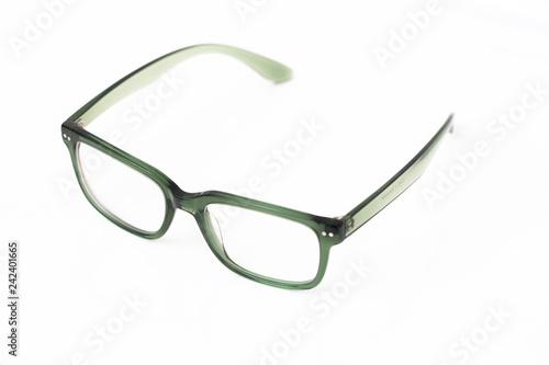 Green Acetate Eyeglasses Wallpaper Mural