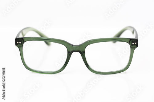 Fotografering  Green Acetate Eyeglasses
