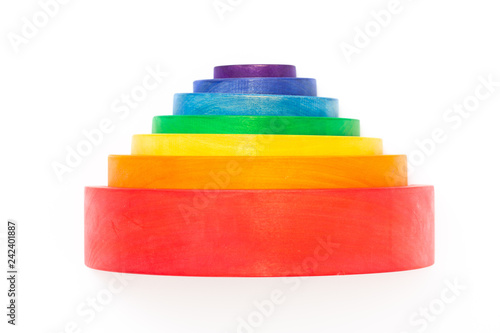 Wooden Stacking Rainbow Toy