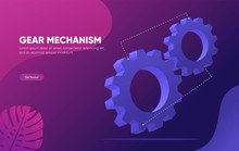 3d Isometric Gear Mechanica Ve...