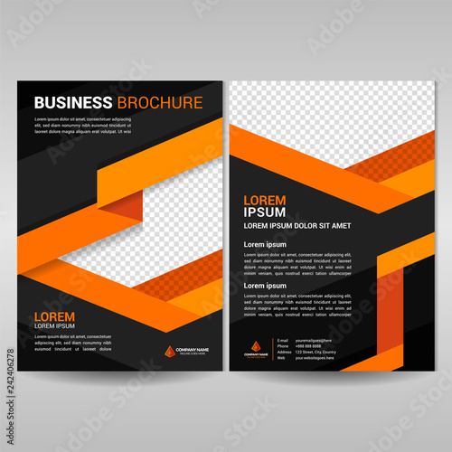 Business commercial brochure template  Annual report cover