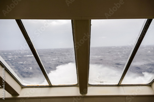 Fotografía  interior seating of a modern sea ferry boat