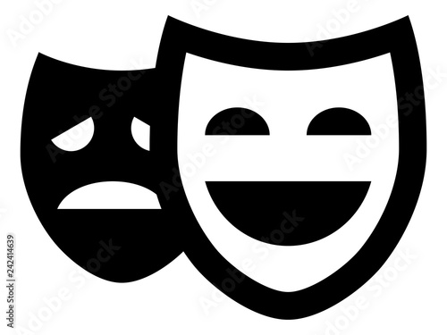 Photo  Drama Theater Masks Vector Icon