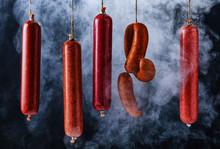 The Process Of Smoking Sausage...