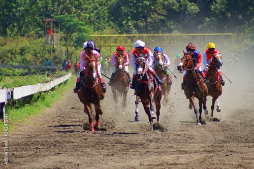 Canvas Print Asian Derby Horse Racing