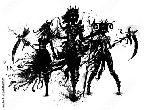 Photo  Dark souls standing in the wind