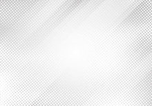 Abstract White And Gray Gradient Color Oblique Lines Stripes With Halftone Texture And Background.