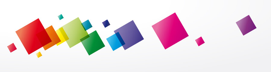 Vector abstract background rainbow squares and pixel. Header and banner