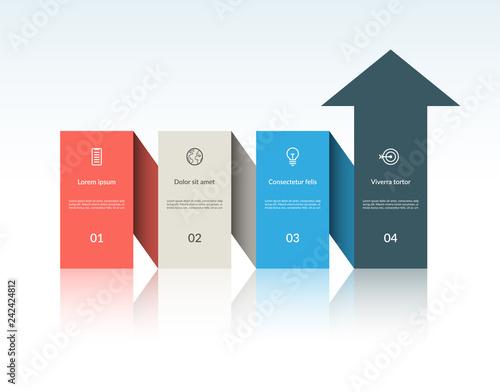 Fényképezés Vector infographic arrow template with 4 steps