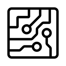 Computer Chip Circuit Board Se...