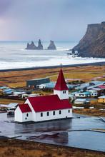 Víkurkirkja Church In Vik, Town In South Iceland