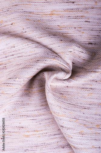 Fotografie, Obraz  Piece of beige twisted fabric