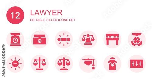 Photo  lawyer icon set