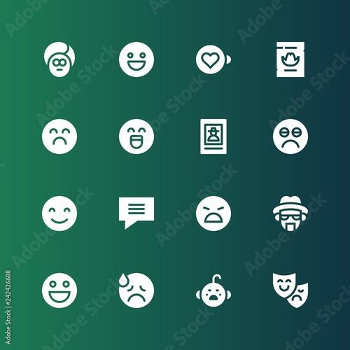 Photo  expression icon set