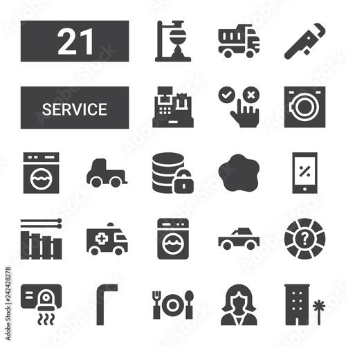 Photo  service icon set