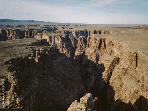 Photo American Southwest Landscape Striations Rock Sediment Canyon