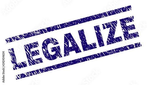 Fotografia, Obraz  LEGALIZE seal print with distress style