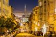 Transamerica Pyramid in San Francisco at Night